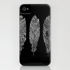 Patterned Plumes - White Slim Case iPhone (4, 4s)