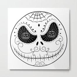 Jack's Skull Sugar (Vector Mexican Skull) Metal Print