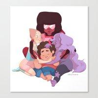 steven universe Canvas Prints featuring Steven Universe by Cátia Moreira