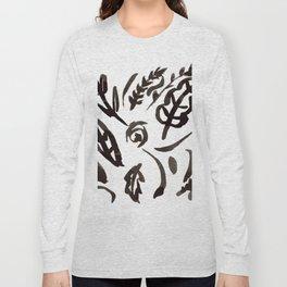 Black Leaves Long Sleeve T-shirt