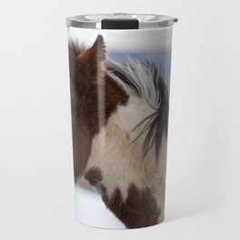 Tri-Colored Horse Travel Mug