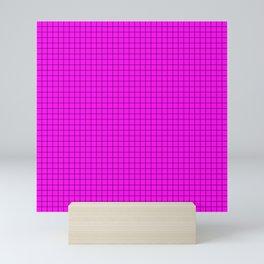 Pink Grid Black Line Mini Art Print
