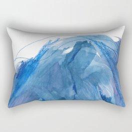 Awaken / Contemporary Abstract Watercolor in Blue / 01 Rectangular Pillow