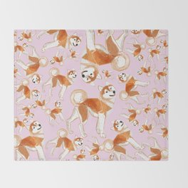 Akita Inu (Pattern) Throw Blanket