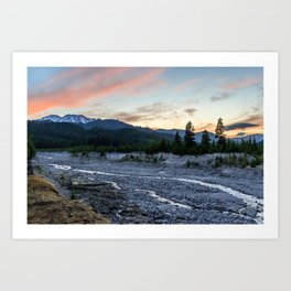 Mount St. Helens Sunset, South Smith Creek Trailhead  Art Print
