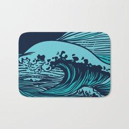 Storming sea Bath Mat
