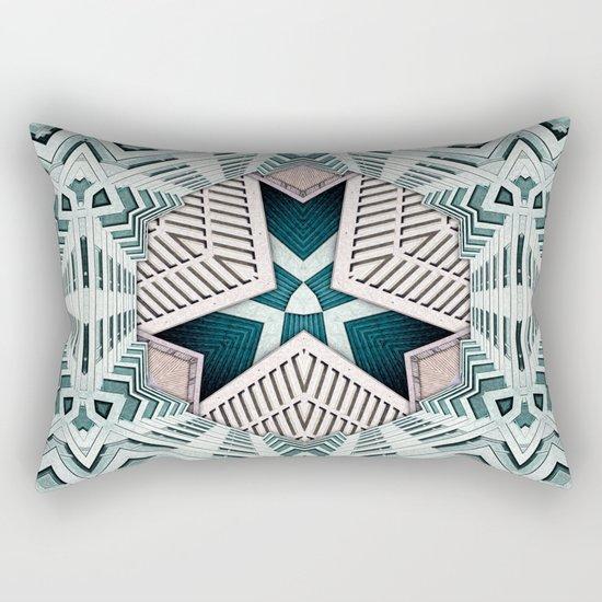 City Buildings Abstract 4 Rectangular Pillow