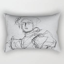Vintage sketch by Gustav Klimt Rectangular Pillow