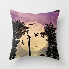 Crow moon 2 Throw Pillow