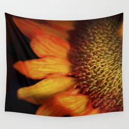 Flaming Sunflower Wall Tapestry