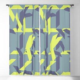 trapezoids grid pattern_pigeon Blackout Curtain