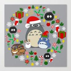 Troll Christmas Wreath Canvas Print