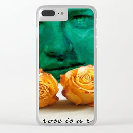 ROSE - quote Clear iPhone Case