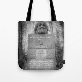 Karl Marx Memorial Tote Bag