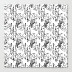 Jamaican Botanicals - Black & White Canvas Print