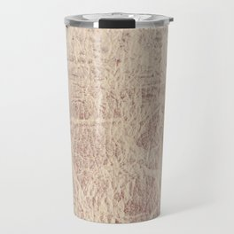 Retro sepia toned leather sheet textured Travel Mug