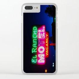 El Rancho Motel ... Clear iPhone Case