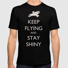 Keep Flying and Stay Shiny Black Mens Fitted Tee MEDIUM