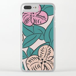 Artdeco flowers Clear iPhone Case