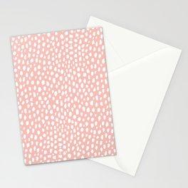 Pink Polka Dot Spots (white/pink) Stationery Cards