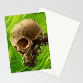 Biohazard Skull Stationery Cards