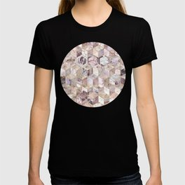 Blush Quartz Honeycomb T-shirt