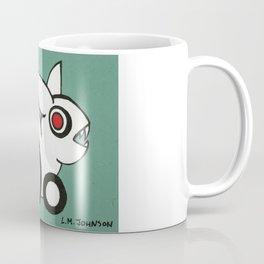 Red-Eye White Rabbit with Pointy Teeth Coffee Mug
