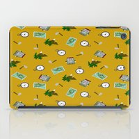 hiking iPad Cases featuring Hiking Pattern by DAW Surface Design