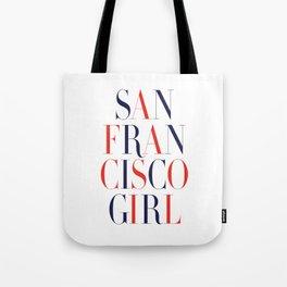 San Francisco Girl Tote Bag