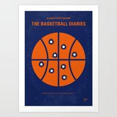 No782 My The Basketball Diaries minimal movie poster Art Print
