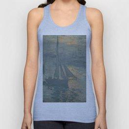 Claude Monet Sunrise (Marine) Unisex Tank Top