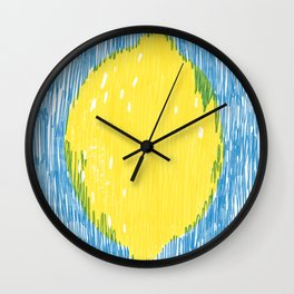 Sour lemon Wall Clock