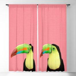 Toucan Bird - Pink Blackout Curtain