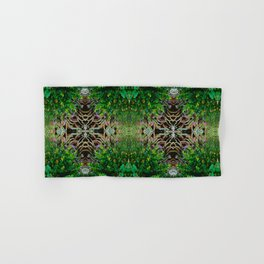 Cocoplum and Cattails op nature pattern Hand & Bath Towel