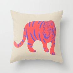 Uzual Tiger, Tiger print, animal print, nursery art Throw Pillow
