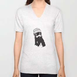 Snow Man Unisex V-Neck