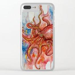 Octopus Ocean Dreem Clear iPhone Case
