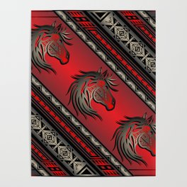 Horse Nation (Red) Poster