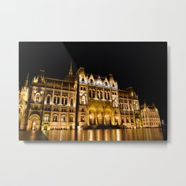 Parliament building in Budapest, capital of Hungary. Metal Print