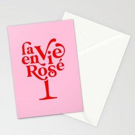 La Vie en Rosé - Typography Stationery Cards