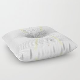 ASCII Ribbon Campaign against HTML in Mail and News – White Floor Pillow