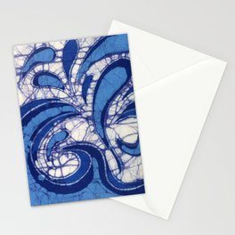 Batik Waves Stationery Cards