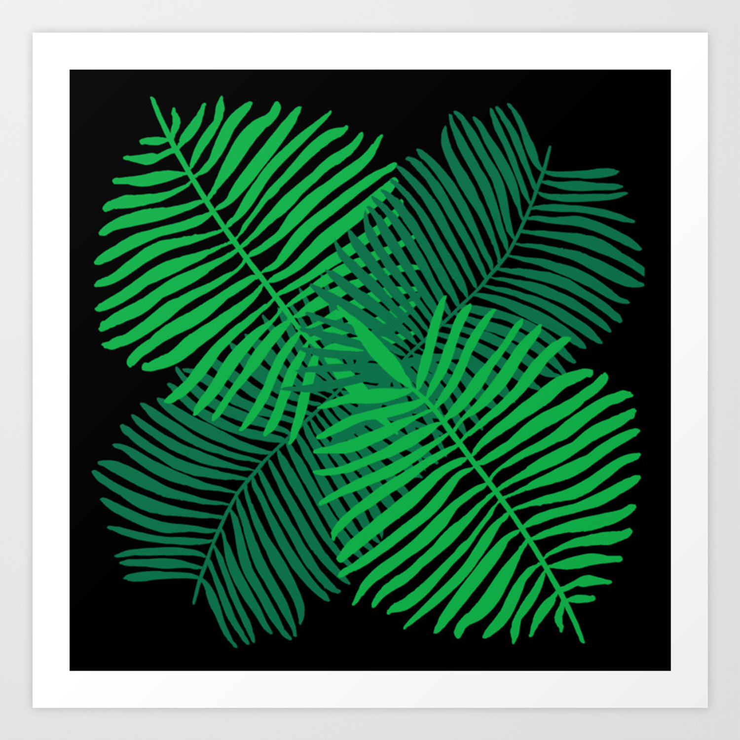 Modern Tropical Palm Leaves Painting Black Background Art Print By Laurabethlove Society6 Choose from hundreds of free tropical backgrounds. modern tropical palm leaves painting black background art print by laurabethlove