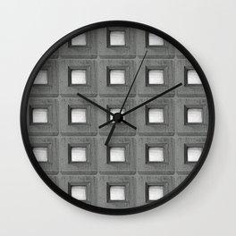 Three Squares a Day  Wall Clock