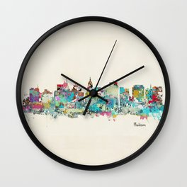 Madison Wisconsin skyline Wall Clock