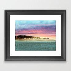 Sunset on the Village Framed Art Print