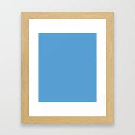 Carolina Blue - solid color Framed Art Print
