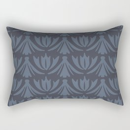 Tassels in Steel Blue Rectangular Pillow