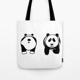 Panda booty Tote Bag