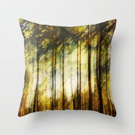 Forest of Surrealism Throw Pillow